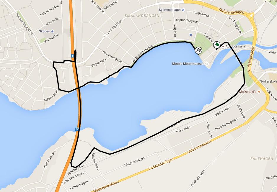 Bansträckning 5 km